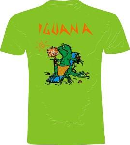 iguanatshirtgreen-front